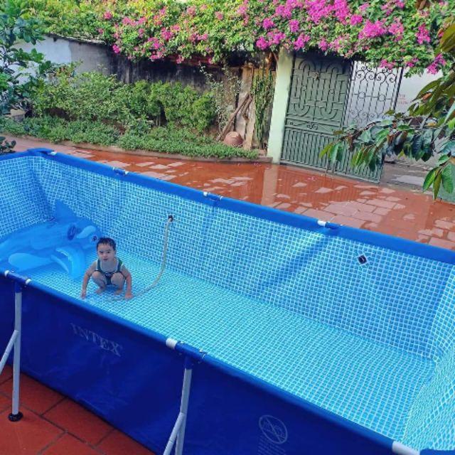 Bể Bơi Khung Kim Loại 4.5mx2.2mx85cm