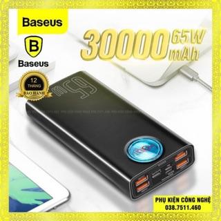 (Tặng cáp 100w) Sạc dự phòng Baseus 65W PD 30000mAh sạc nhanh dùng cho Smartphone, iPad ,Laptop Macbook