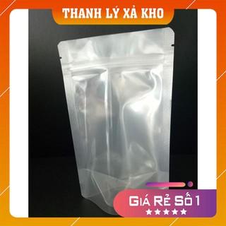 SIÊU RẺ [ ĐỔ BUÔN GIÁ SỈ] 1kg túi zip bạc 1 mặt trong 1 mặt bạc- đáy đứng hàng loại 1