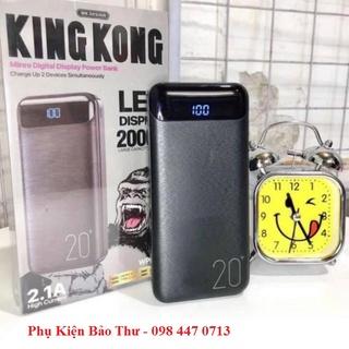 Sạc Dự Phòng 20000 mAh Chính Hãng King Kong - WP168 Có 02 Cổng Ra USB,01 Cổng Micro,01 Cổng Tybe - [Hàng Bảo Hành] thumbnail