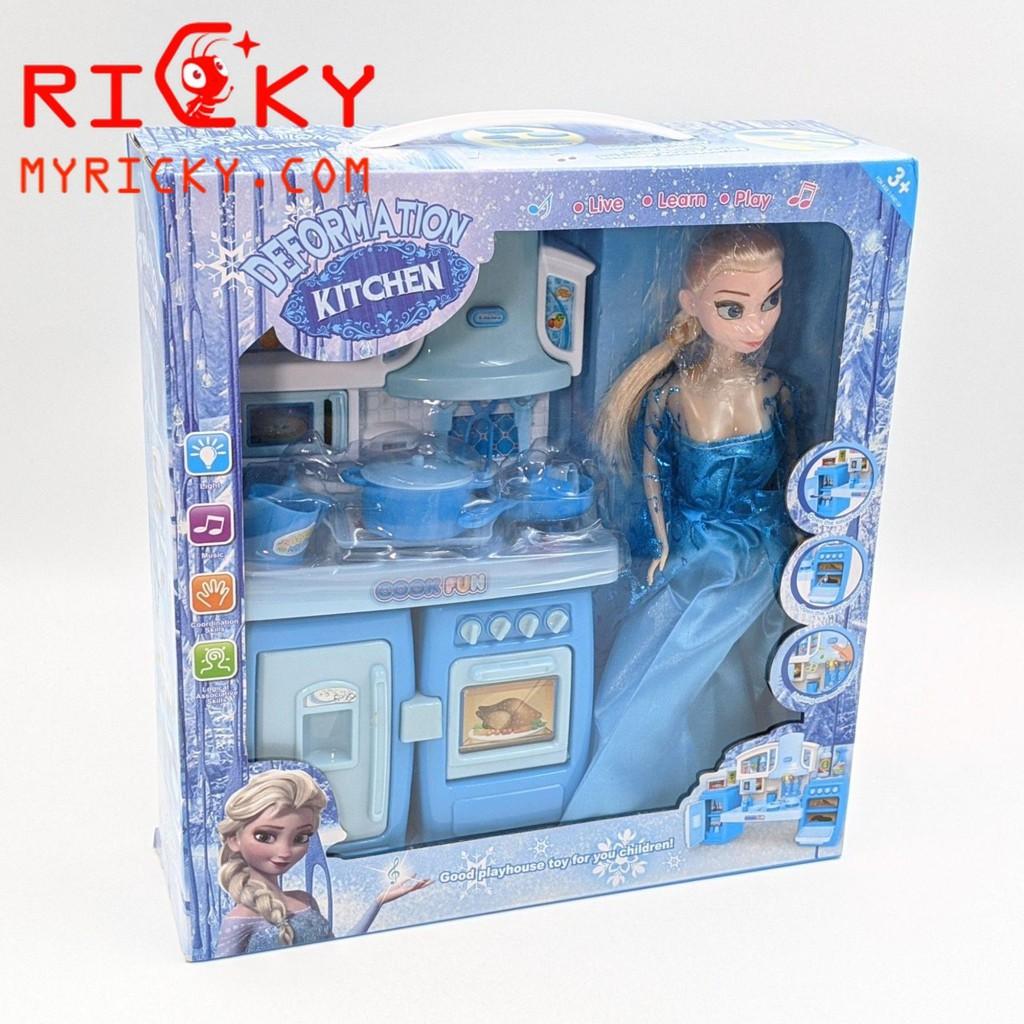 Búp bê công chúa băng giá Elsa và dụng cụ nhà bếp