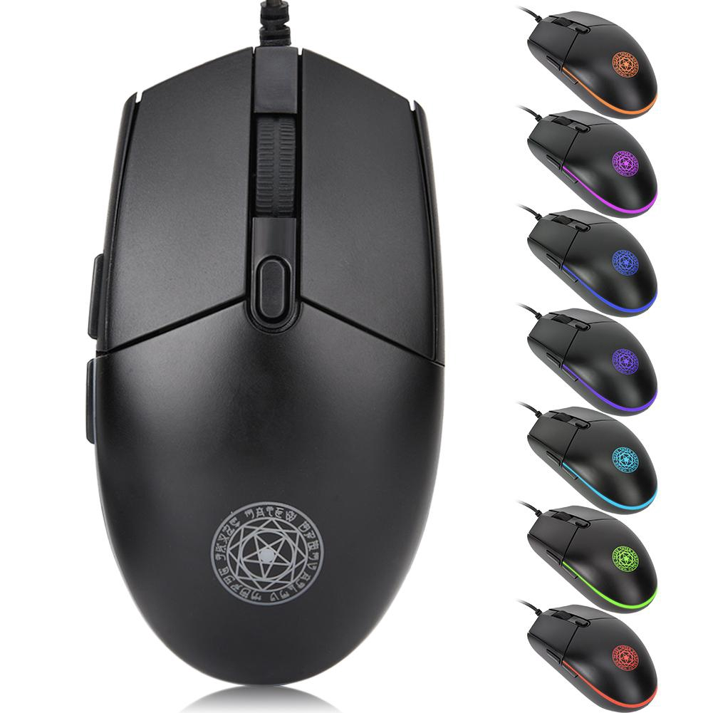 Wired USB Computer Mouse Magic Shield Pattern Colorful Optical Games Mouse