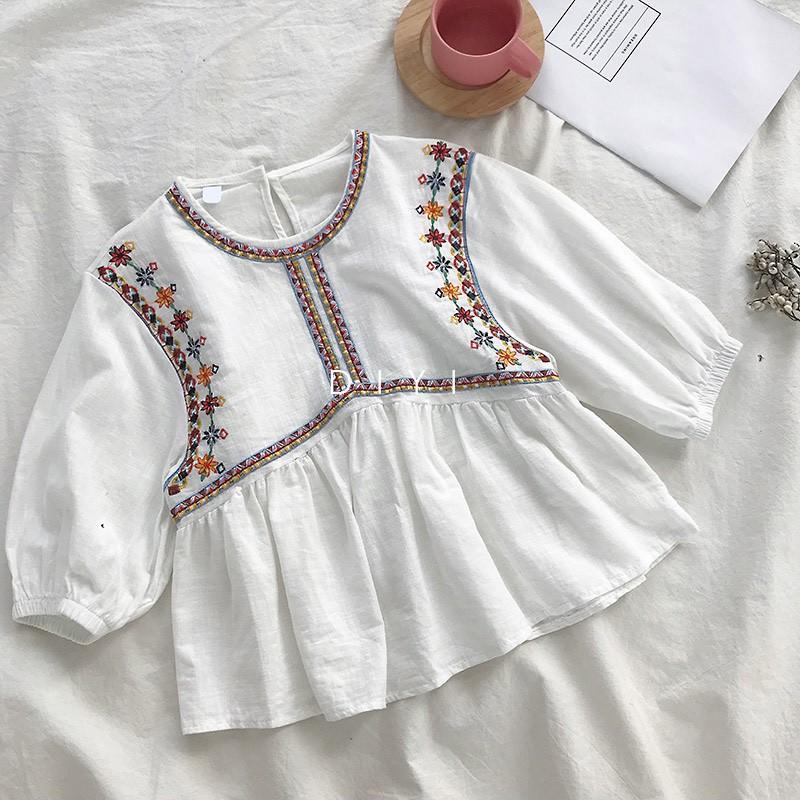 Áo baby doll thêu D13 ( Hàng có sẵn )