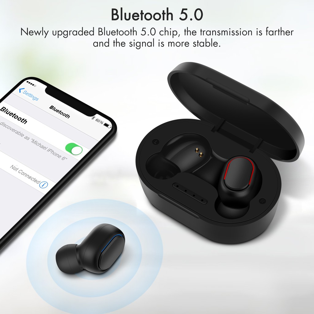 [Mã CBEL06 giảm 20% đơn 50k]GOOJODOQ Tai nghe không dây bluetooth 5.0 tích hợp micro cao cấp chất lượng cao