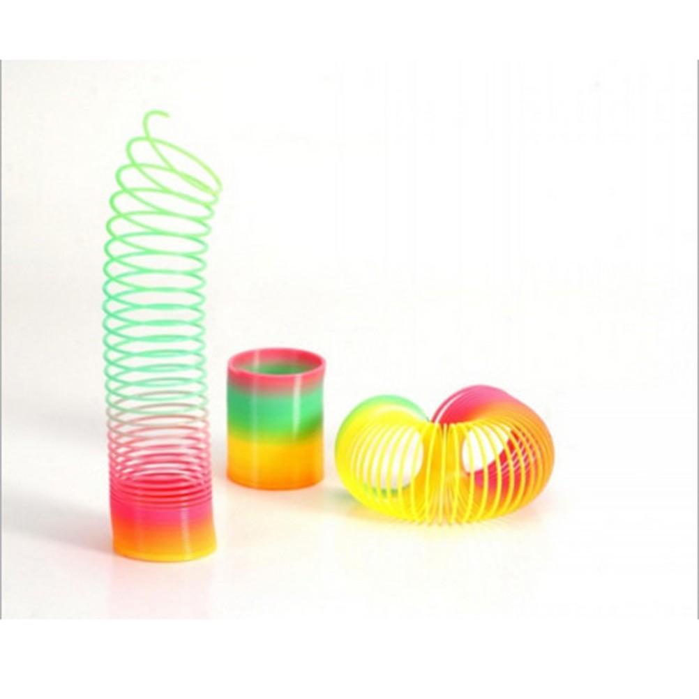 1Pcs Magic Slinky Plastic Rainbow Springs Bounce Children FunToy
