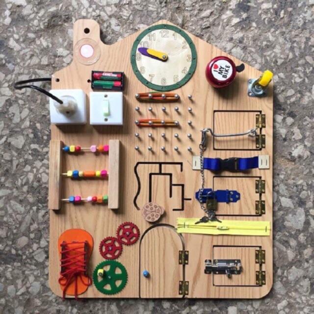 Bảng bận rộn Busy board cho bé yêu - 3332317 , 879393637 , 322_879393637 , 400000 , Bang-ban-ron-Busy-board-cho-be-yeu-322_879393637 , shopee.vn , Bảng bận rộn Busy board cho bé yêu