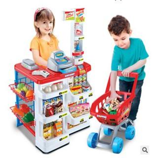 Đồ chơi siêu thị kèm xe đẩy hàng cao cấp