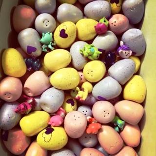 Trứng mini Hatchimals sắp nở (tím+vàng+hồng) 110k/20 trứng tặng kèm 3 thú bất kì