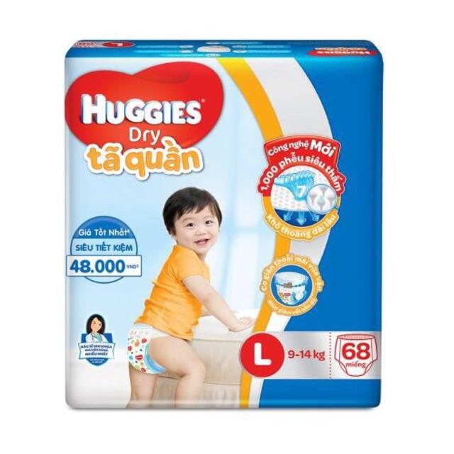 Bỉm Quần huggies 68 miếng cho bé 9-13kg