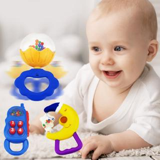 Cartoon Design Food Grade ABS Baby Rattles Toys Baby Hand Shake Bell Ring Kittyhome