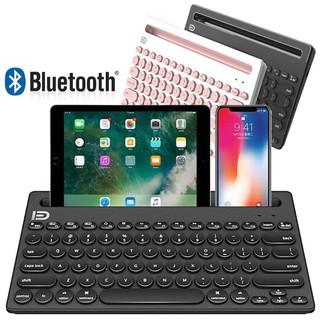 Bàn Phím Bluetooth Không Dây Forter IK3381 - Có khe để Điện thoại, Máy tính bảng, Ipad - Kết nối cùng lúc 3 thiết bị thumbnail