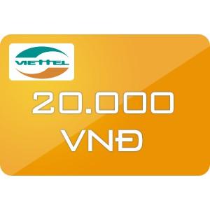 Thẻ cào / Nạp trực tiếp Viettel 20k