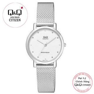 Đồng hồ nữ Q&Q Citizen QA21J211Y dây kim loại thương hiệu Nhật Bản