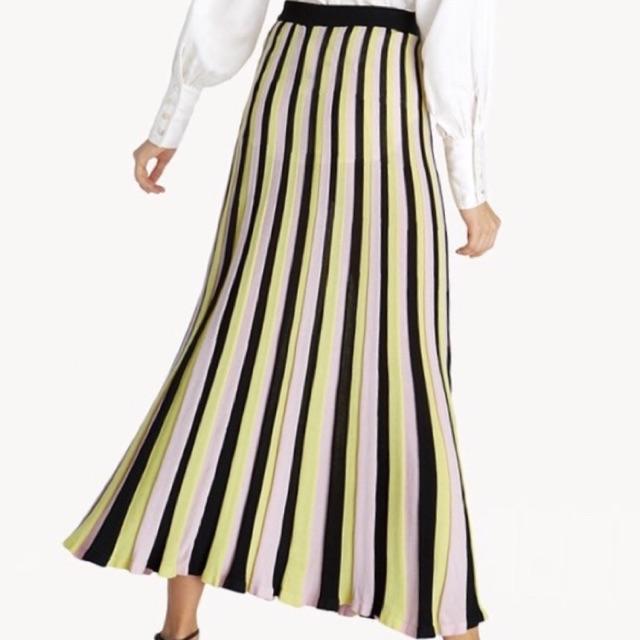 Pomelo Premium Maxi Knit Striped Skirt