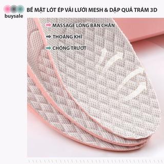 Lót giày nữ độn đế cao su non kiểu tổ ong tăng chiều cao 1.5cm, 2.5cm, 3cm - Hồng phối xám nhạt - buysale - BSPK156 4