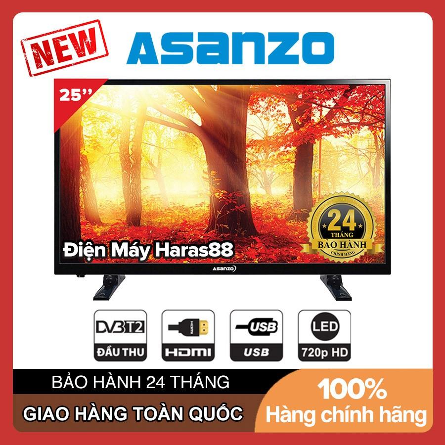 Tivi Led Asanzo 25 inch HD 25S200T2 (Đen) Tích Hợp Đầu Thu Truyền Hình Kĩ Thuật Số DVB-T2 - Tivi Giá Rẻ