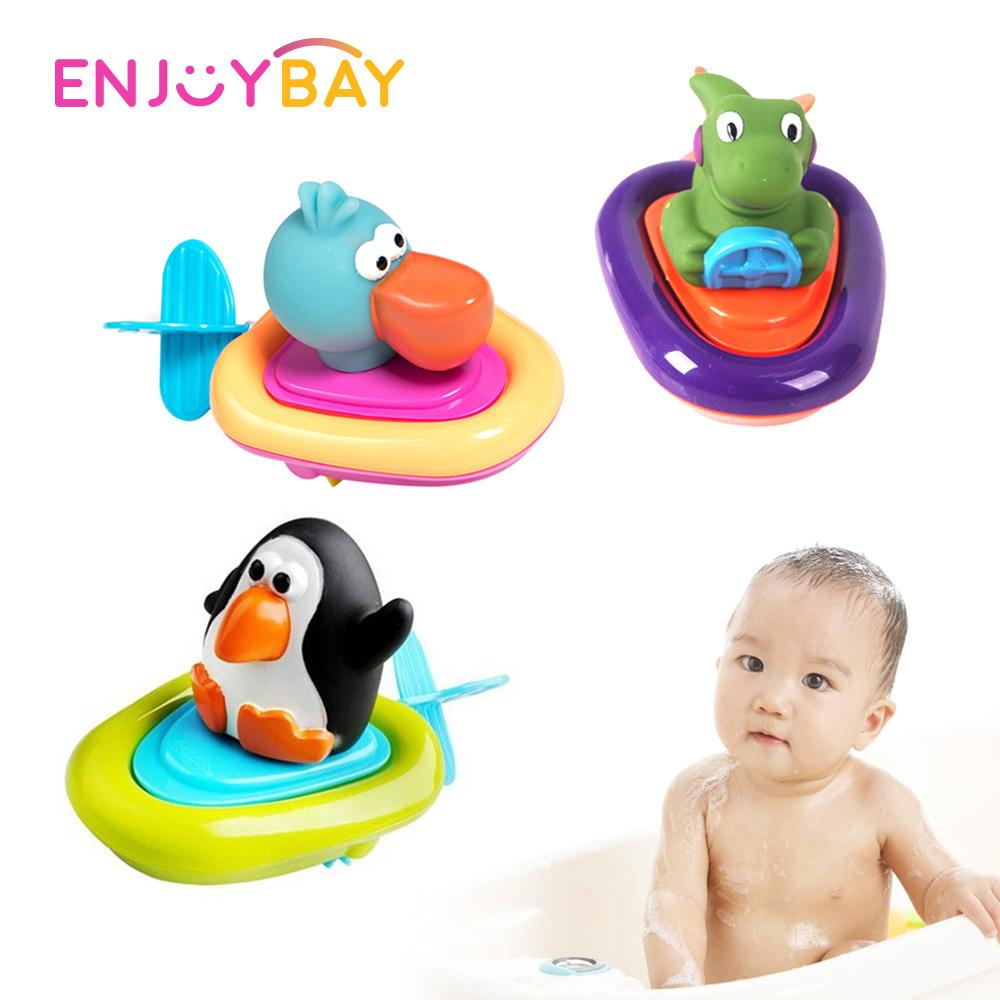 Thuyền Bath Clockwork Toy Dễ Thương Mềm Cao Su Head Animal Trong Hơn 3 Năm Kid