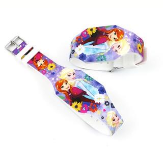 Đồng hồ Elsa đèn LED cho bé gái hottrend dây nhựa liền mảnh phong cách thể thao năng động BBShine – DH014