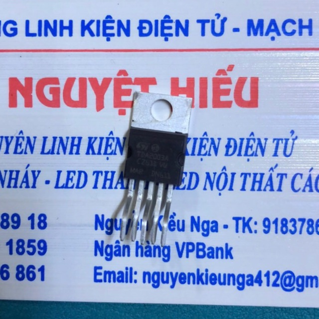 2 con IC khuếch đại âm thanh TDA2030