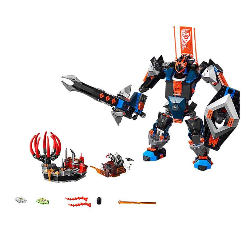 Compatible With 70326 Lepin 14023 578pcs Nexo Knights The Black Knight Mech
