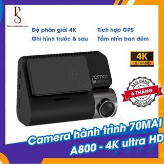 Bộ camera hành trình 70mai A800 4K Ultra HD - tích hợp GPS - quay trước sau - A800 Dash Cam