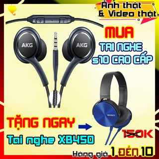 CAM KẾT LỖI 1 ĐỔI 1 | COMBO TAI NGHE SAMSUNG S10 + TAI NGHE XB450 | Tai nghe nhạc có dây. Tai nghe samsung