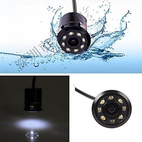 Camera lùi hồng ngoại-Camera lùi 8 đèn led hồng ngoại lắp xe hơi, sản phẩm không thể thiếu cho những chuyến đi