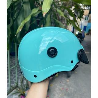 Nón Bảo Hiểm Phủ NaNo bóng Nhiều Màu( lót logo, viền nón theo màu) thumbnail