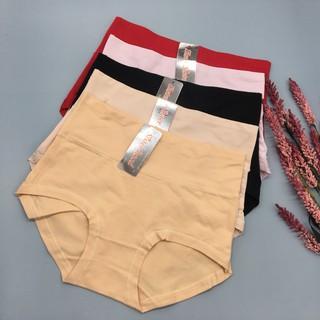 Quần lót nữ cotton cạp cao , 85cm đến 90cm quần cạp cao cho người béo bụng không gian eva KGE thumbnail