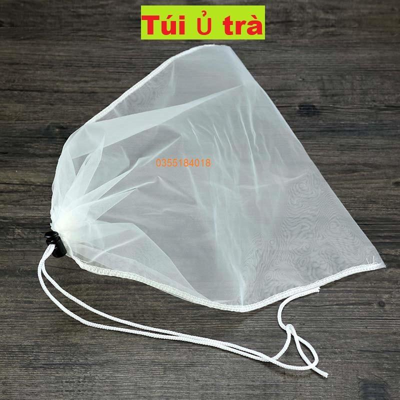 Túi lọc trà - lọc cặn bột sữa hạt - túi ủ trà - lọc nước ép hoa quả vải sợi cước 38x40cm