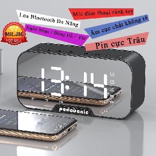 [ Phiên Bản 2020 ] Loa Bluetooth Padabanic Nhạc Mp3 Thẻ TF / Bluetooth 5.0 / Đài FM / Pin 1400mAh Kiêm Đồng Hồ Báo Thức