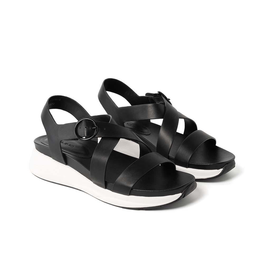 JUNO - Giày sandal đế thể thao khóa sơn cùng màu - SD