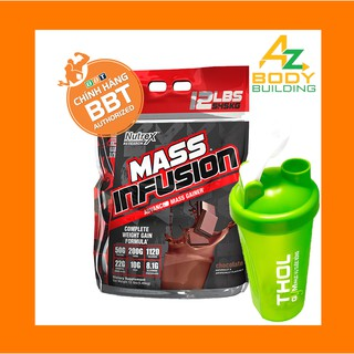 Thực phẩm bổ sung hỗ trợ tăng cân – tăng cơ Nutrex Mass Infusion bịch lớn 5.45kg – Tặng kèm bình lắc THOL màu ngẫu nhiên
