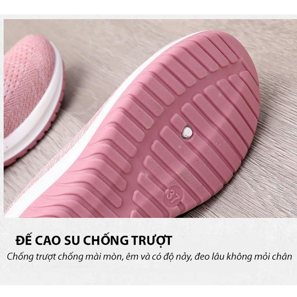 Giày đi bộ nữ Hàn Quốc cao cấp chất liệu vải mềm đế cao su đúc nên đi rất nhẹ và êm chân (Size 35-40) L02 DOZIMAX