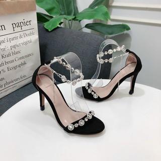Sandal cao gót 9P dây quai đá - Sandal nữ gót nhọn 9P Chile