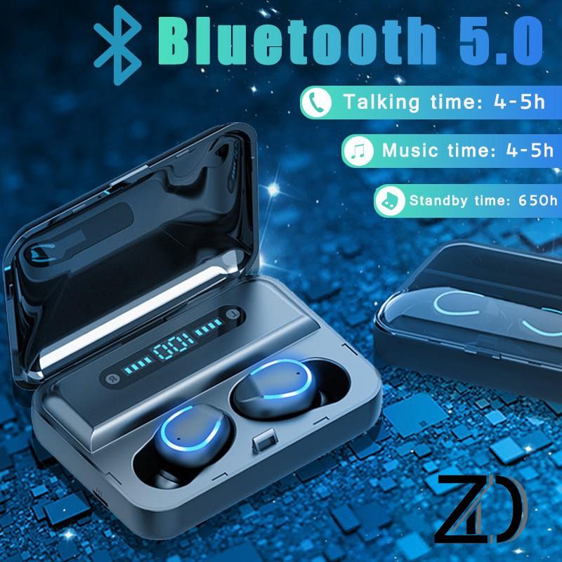 Tai nghe không dây Bluetooth 5.0 Vitog F9 TWS LED hiển thị kỹ thuật số 1200mah với hộp sạc