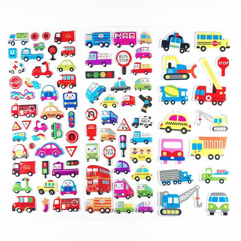 Children's Lovely Cartoon Bubble Stickers 3d Stereo Stickers Toy Pattern Random