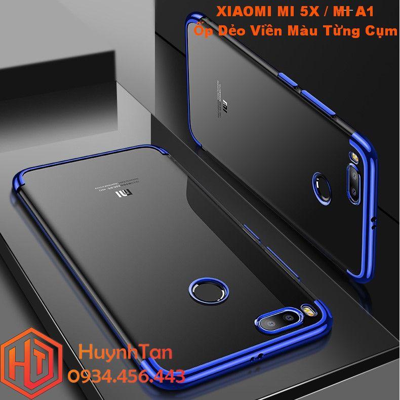 ỐP lưng Xiaomi Mi 5X / Mi A1 _ Ốp dẻo viền màu từng cụm full màu