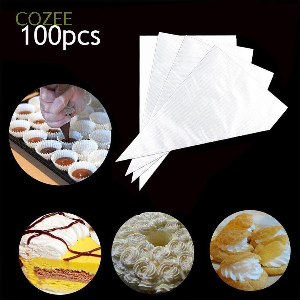 100 Túi Nhựa Bắt Bông Kem Dùng 1 Lần