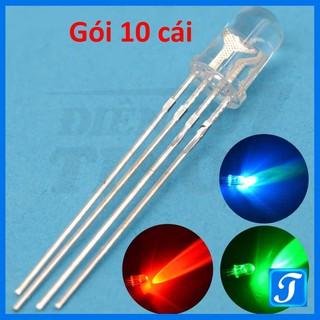 [Combo 10 cái] Led 7 Màu RGB Siêu Sáng 5mm loại Âm và Dương chung tùy chọn