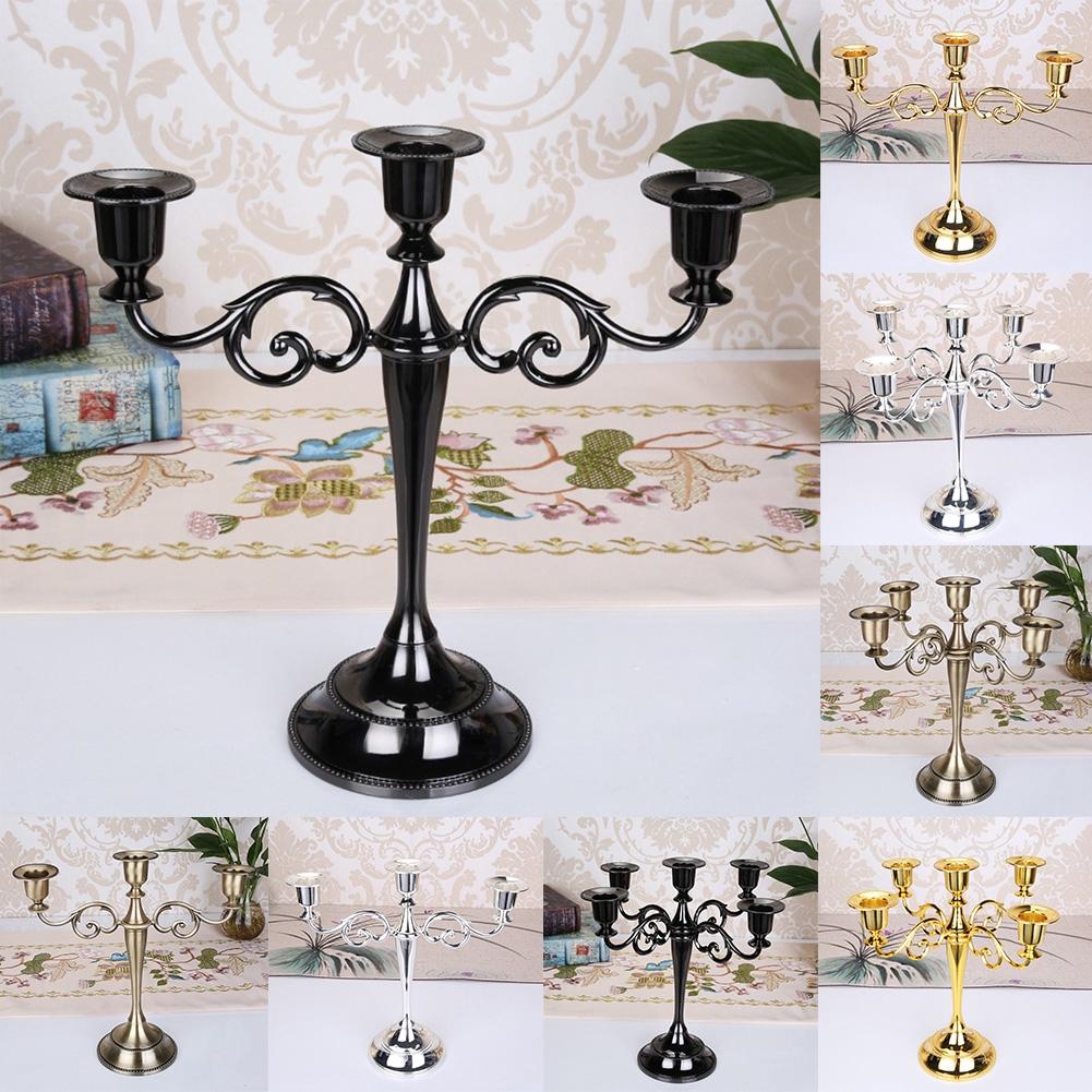 Party Home Decor Retro Gift Candle Holder Romantic Candlestick Candlelight Dinner Wedding Restaurant Desktop Candelabra