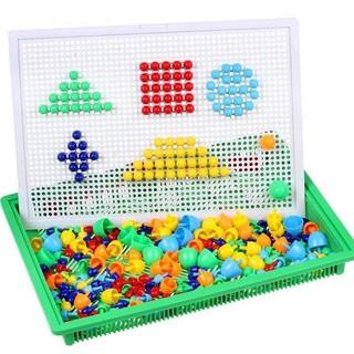 (HOTSALE) Bảng ghép hình nhựa 296 hạt nấm GIÁ SỈ RẺ NHẤT