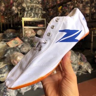 Giày đinh đá bóng nam nữ trẻ em vải màu trắng đế cao su nguyên chất giá rẻ