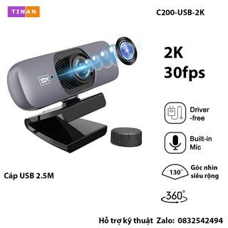 [ 2K, Micro, Góc nhìn siêu rộng 130 ] Webcam UHD 2K Kèm Micro, Xoay 360 Độ, Góc nhìn siêu rộng 130 , Phù Hợp Hội Nghị thumbnail