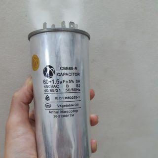 Tụ điều hòa 3 chân 60 +1,5uf/450V