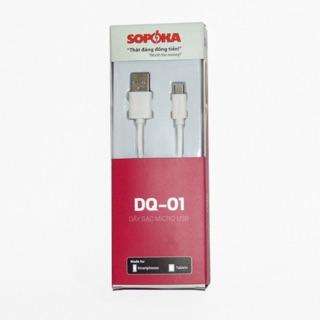 Dây sạc Micro của SOPOKA - DQ 01 dành cho SAMSUNG, HTC, SAMSUNG, XIAOMI....