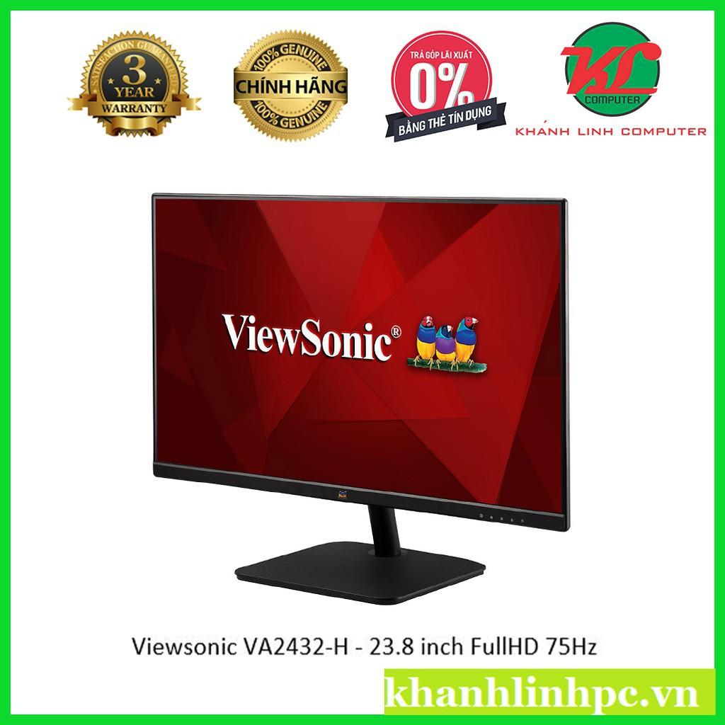 Màn hình máy tính Viewsonic VA2432-H - 23.8 inch FullHD 75Hz (1920x1080) không viền mới 100% chính hãng 95
