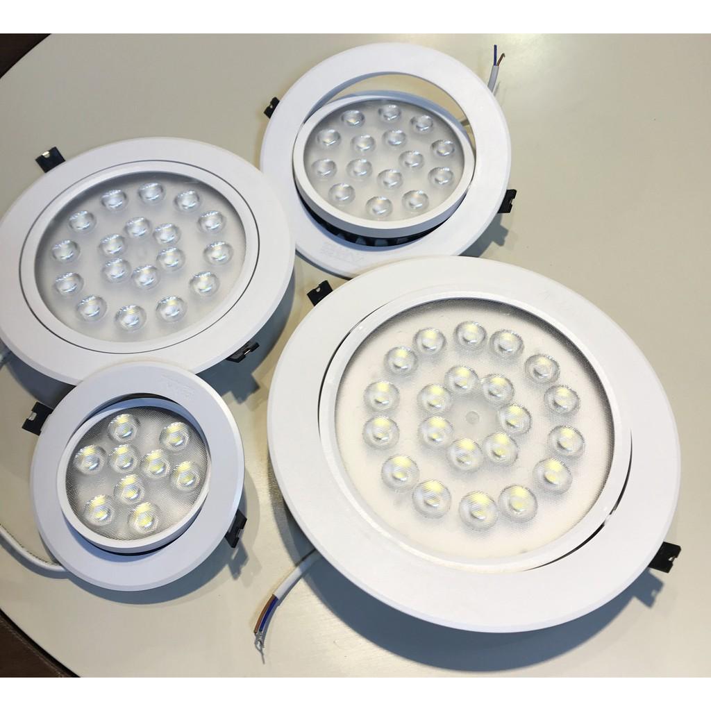 ĐÈN LED ÂM TRầN 9W, 15W, 18W, 21W -đèn dowlight âm trần 9W lỗ khoét 100mm mắt ếch, đèn âm trần