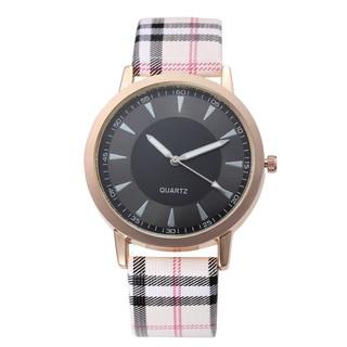 Đồng hồ thời trang nam nữ dây caro CA204