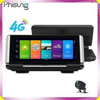 Camera hành trình đặt taplo ô tô 4G, wifi, 7 inch tích hợp cam lùi cao cấp thương hiệu Phisung - Mã K7 - Hàng Nhập Khẩu